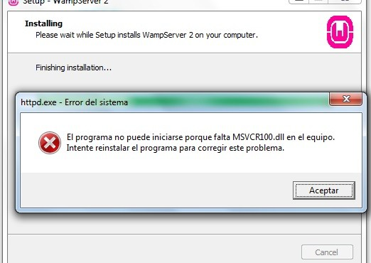 error-wamp-MSVCR100.dll